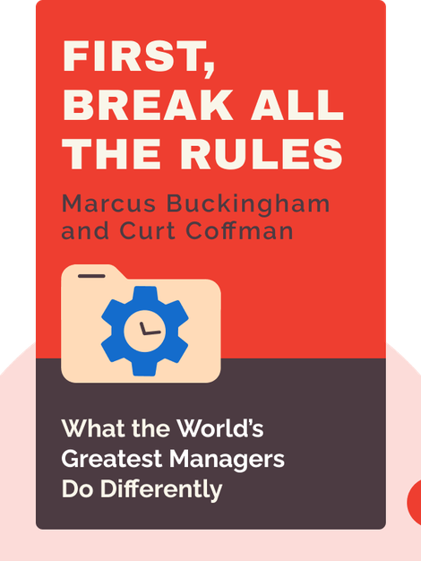 First, Break all the Rules: What the World's Greatest Managers Do Differently von Marcus Buckingham and Curt Coffman
