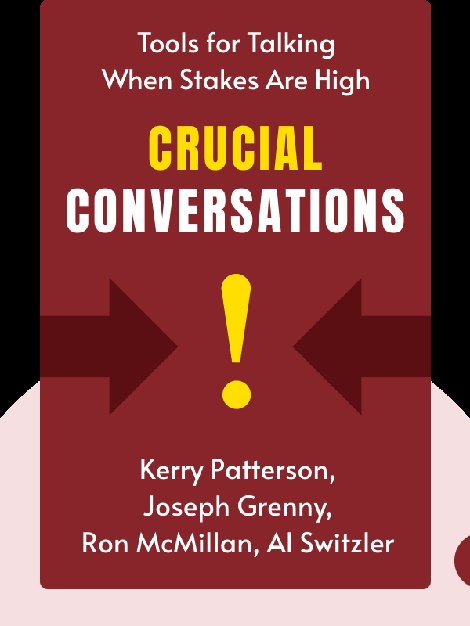 Crucial Conversations: Tools for Talking When Stakes Are High by Kerry Patterson, Joseph Grenny, Ron McMillan, Al Switzler