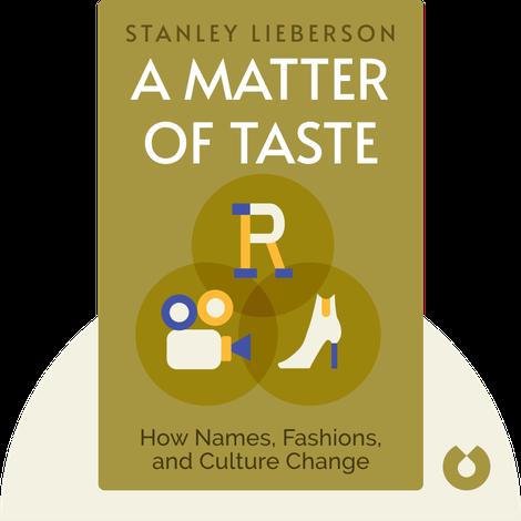 A Matter of Taste by Stanley Lieberson