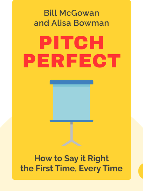Pitch Perfect: How to Say it Right the First Time, Every Time by Bill McGowan and Alisa Bowman