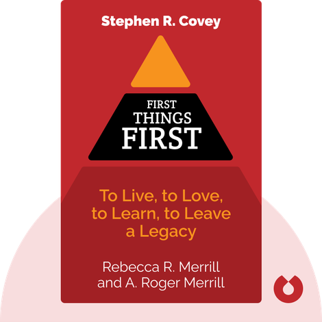 First Things First by Stephen R. Covey, A. Roger Merrill and Rebecca R. Merrill