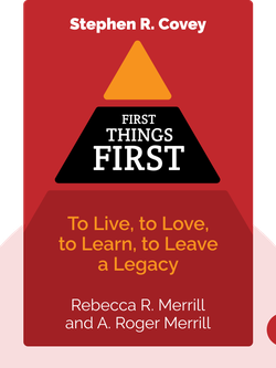 First Things First: To Live, to Love, to Learn, to Leave a Legacy von Stephen R. Covey, A. Roger Merrill and Rebecca R. Merrill