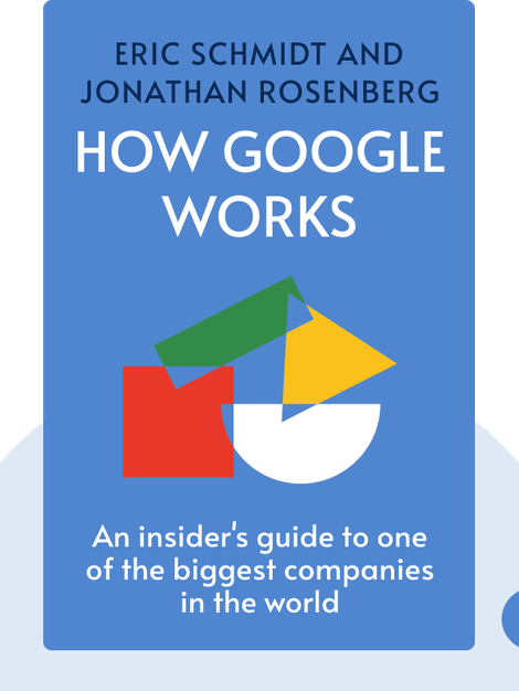 How Google Works by Eric Schmidt and Jonathan Rosenberg
