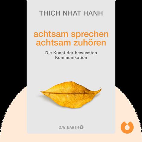 achtsam sprechen – achtsam zuhören von Thich Nhat Hanh
