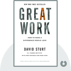 Great Work: How to Make a Difference People Love von David Sturt