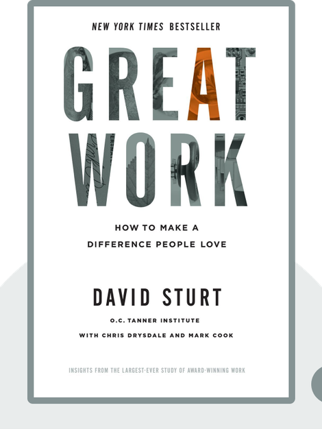 Great Work: How to Make a Difference People Love by David Sturt
