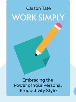 Work Simply: Embracing the Power of Your Personal Productivity Style by Carson Tate