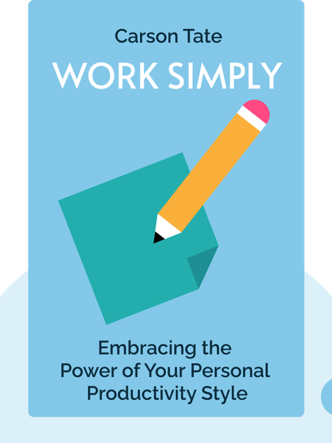 Work Simply: Embracing the Power of Your Personal Productivity Style von Carson Tate
