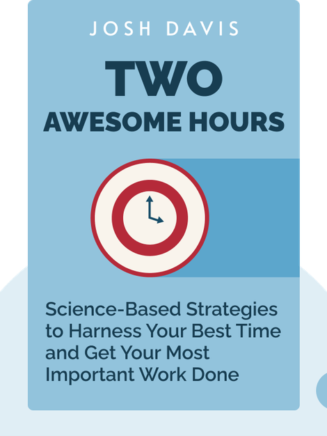 Two Awesome Hours: Science-Based Strategies to Harness Your Best Time and Get Your Most Important Work Done by Josh Davis