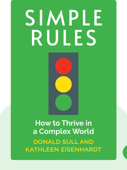 Simple Rules: How to Thrive in a Complex World by Donald Sull and Kathleen Eisenhardt