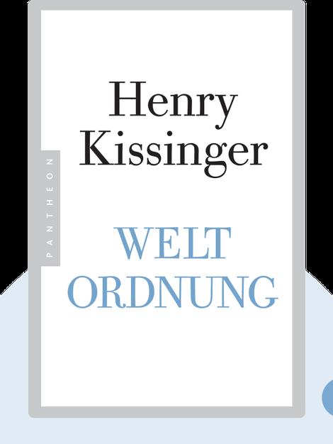 Weltordnung von Henry Kissinger