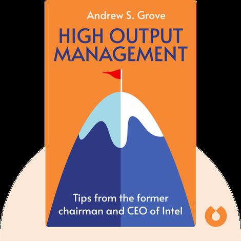 High Output Management von Andrew S. Grove