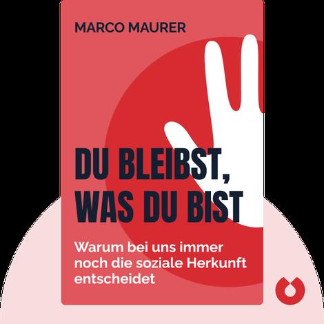 Du bleibst, was du bist by Marco Maurer