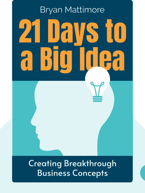 21 Days to a Big Idea: Creating Breakthrough Business Concepts von Bryan Mattimore