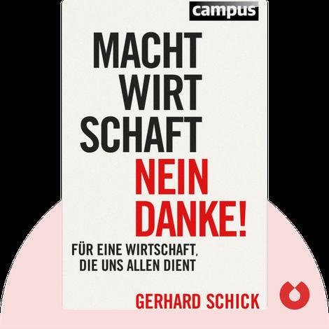 Machtwirtschaft – nein danke! von Gerhard Schick