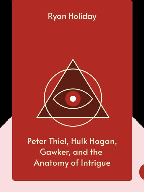 CONSPIRACY: Peter Thiel, Hulk Hogan, Gawker, and the Anatomy of Intrigue von Ryan Holiday