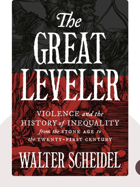 The Great Leveler: Violence and the History of Inequality from the Stone Age to the Twenty-First Century von Walter Scheidel