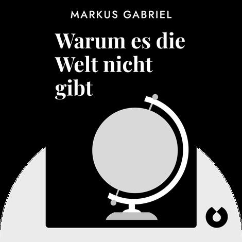 Warum es die Welt nicht gibt von Markus Gabriel