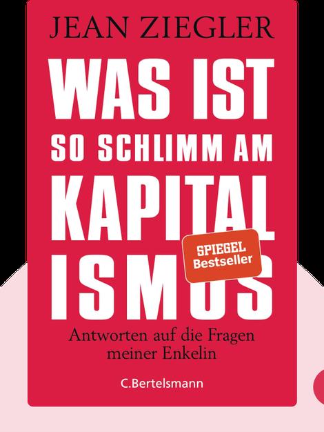 Was ist so schlimm am Kapitalismus?: Antworten auf die Fragen meiner Enkelin von Jean Ziegler