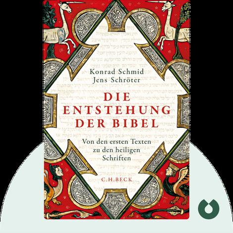 Die Entstehung der Bibel by Konrad Schmid und Jens Schröter