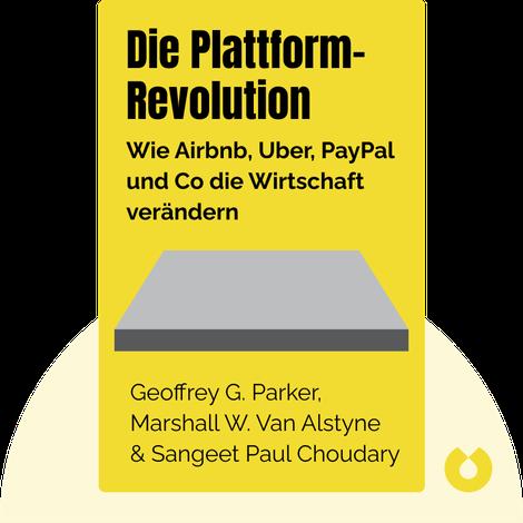 Die Plattform-Revolution by Geoffrey G. Parker, Marshall W. Van Alstyne & Sangeet Paul Choudary