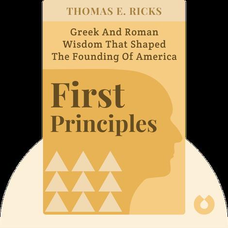 First Principles by Thomas E. Ricks